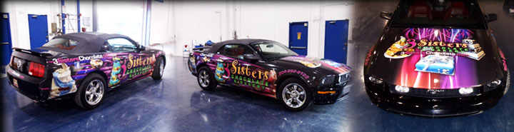 3 sisters complete vehicle wrap