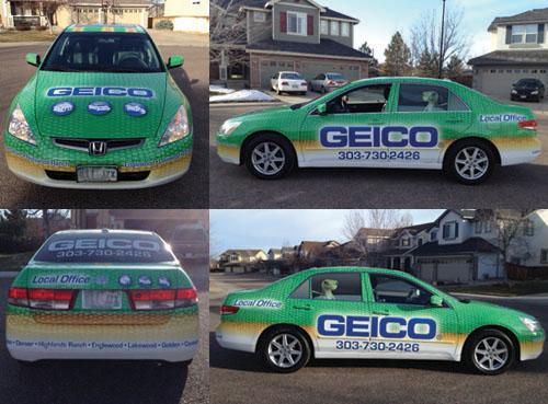 Geico Honda Accord Full Wrap