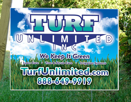 Turf Unlimited Yard Sign